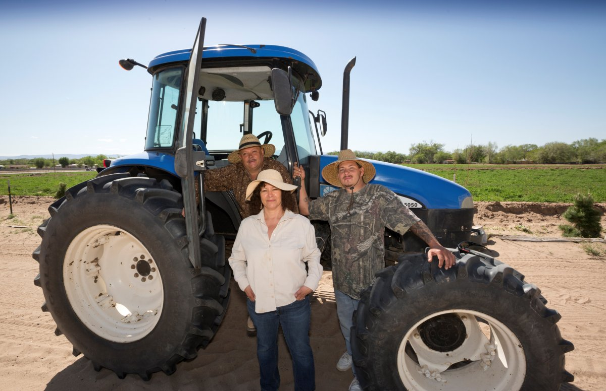 Five generations of the Baca family have farmed in the South Valley of New Mexico. (Healthy Here PR at CWA Communications)